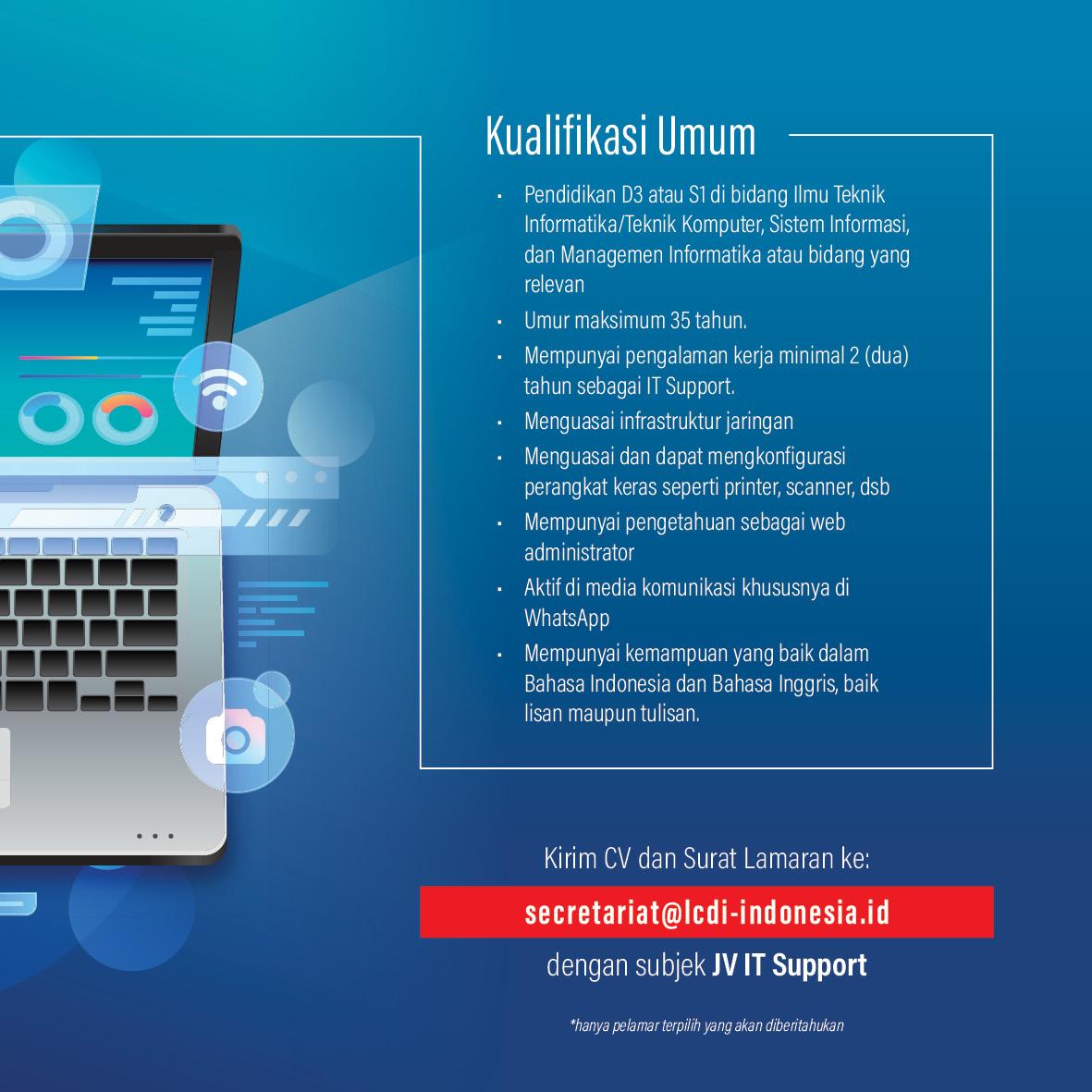 Kualifikasi Umum - IT Support