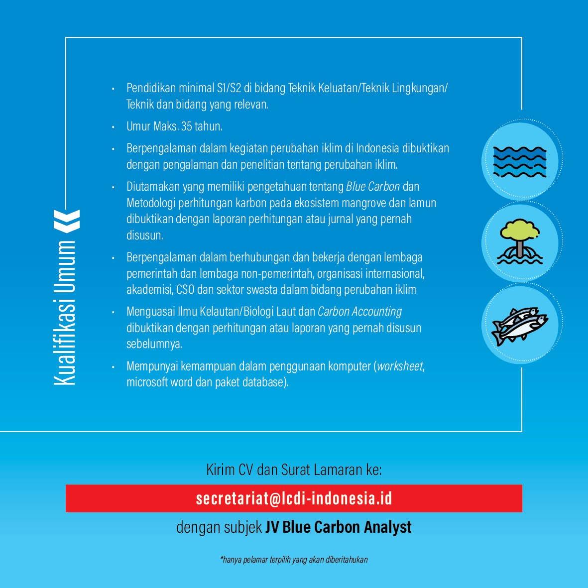Kualifikasi Umum - Bluecarbon Emission Analyst