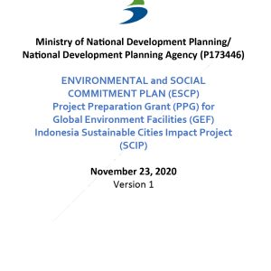 Cover-Environmental and Social Commitment Plan (ESCP)_PPG_SCIP GEF-01